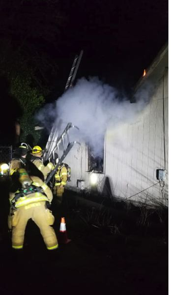 COURTESY PHOTO: COLUMBIA RIVER FIRE AND RESCUE - Firefighters were called to a single-story blaze in the 300 block of North 2nd Street in St. Helens on Tuesday, Feb. 26. The cause of the fire is still under investigation and the house is a complete loss.