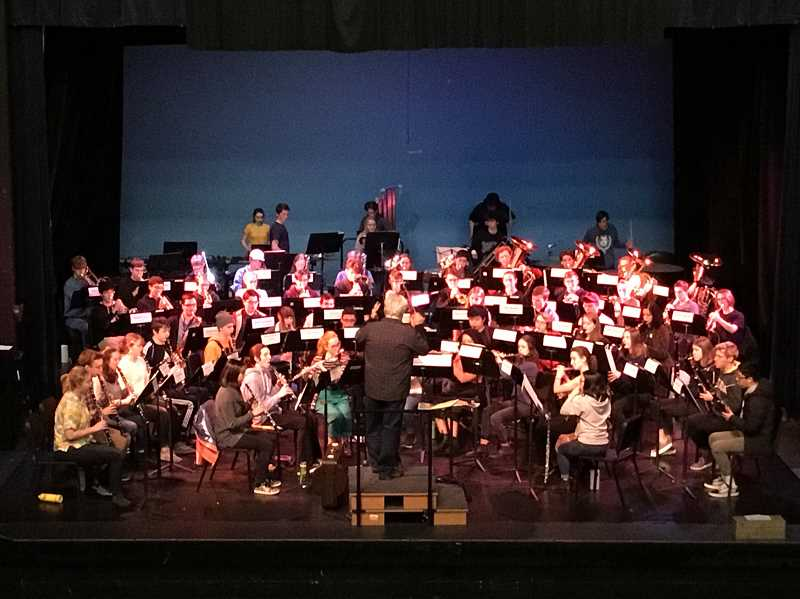 The High School Honor Band performed in January at Jefferson High School. Doctor Robert Ponto of the University of Oregon conducted.