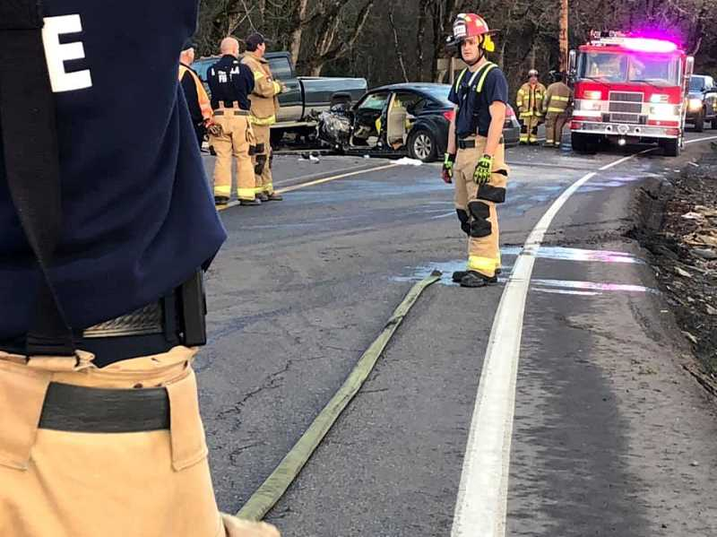 MFD - The highway was closed for 3-4 hours while Oregon State Police conducted an investigation.