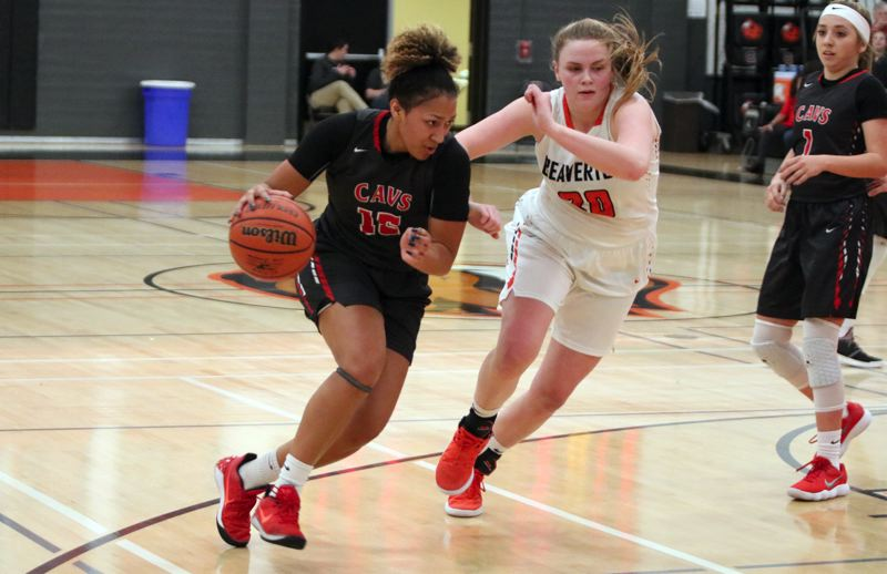 PMG PHOTO: JIM BESEDA - Clackamas' Kalani Hayes scored 17 of her game-high 24 points in the first half of Thursday's 61-39 loss at Beaverton in the opening round of the OSAA Class 6A girls' basketball playoffs.