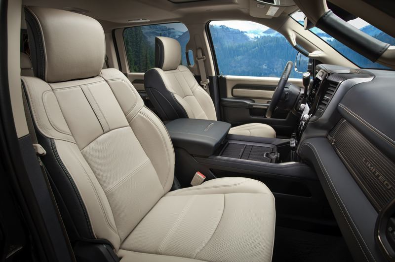 COURTEY RAM - There is more than enough room for five adults to ride in comfort in the four-door versions of the 2019 Ram 3500 HD trucks.