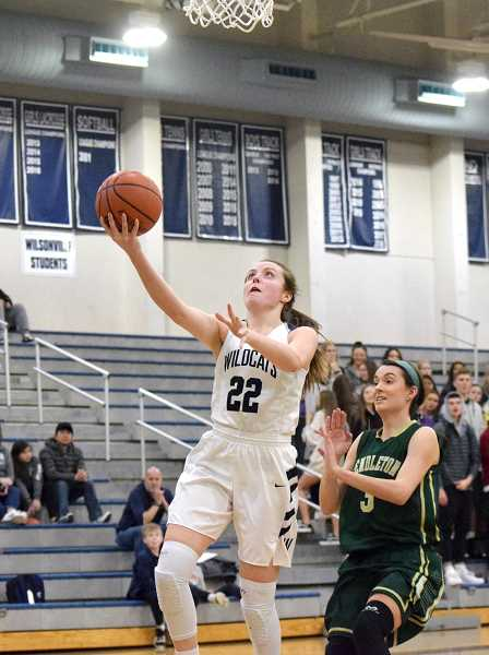 SPOKESMAN PHOTO: TANNER RUSS - Wilsonville senior Cydney Gutridge led the team in scoring against the Pendleton Buckaroos in the opening round of the state playoffs.