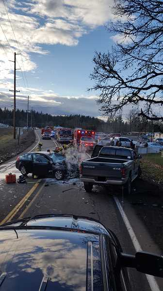 OSP - A view of the scene Friday evening.