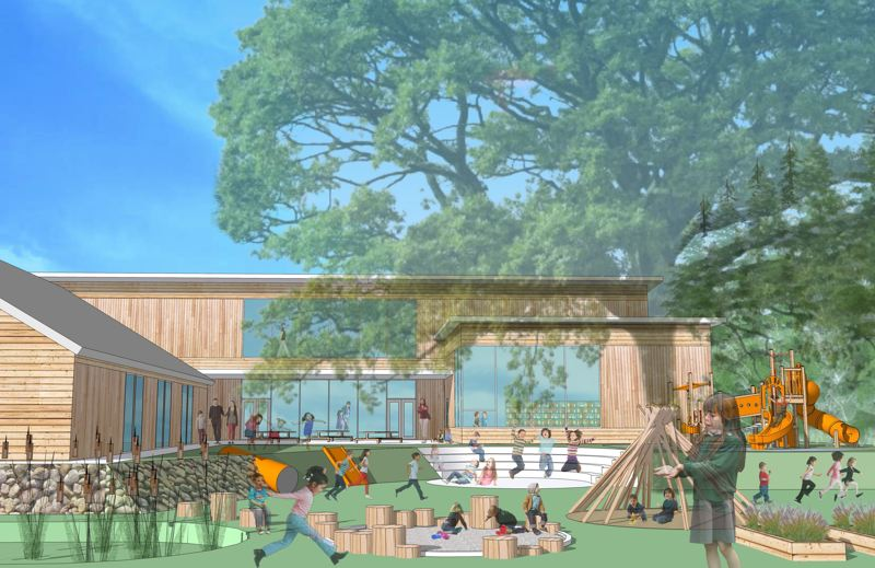 COURTESY: MARYLHURST SCHOOL - Marylhurst School, which serves 165 students in grades K-8, will establish a new campus on land in West Linn that previously served as the home of the New Life Church Robinwood. In addition to renovating buildings already on the property, plans calls for the eventual construction of a 16,300-square-foot building that will contain 12 classrooms and a library.