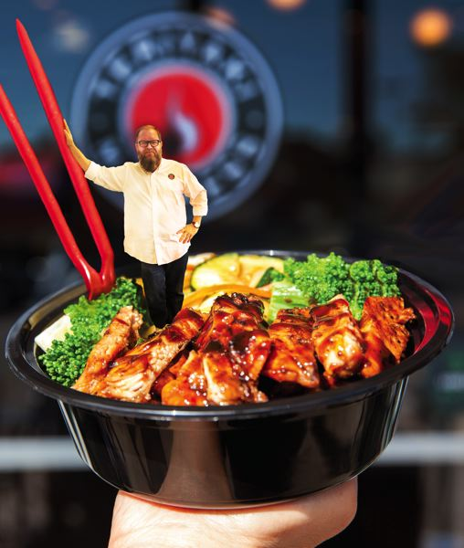 COURTESY: TERIYAKI MADNESS - Michael Haith, CEO of Teriyaki Madness (left) is a big fan of franchising, simple food and cheeky media campaigns.
