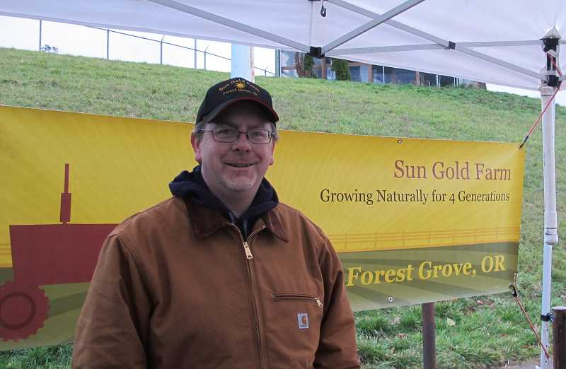 PMG PHOTO: BILL GALLAGHER - Chris Hertel from Sun Gold Farm in Veerboort has been coming to Hillsdale Farmers Market on Sundays since 2002.