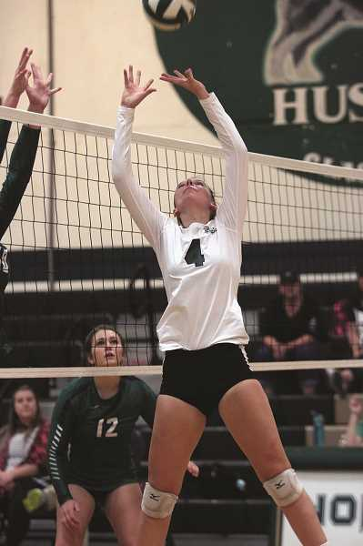 PMG PHOTO: PHIL HAWKINS - After entering high school as a right-side hitter, Morcom transitioned to become North Marion's primary setter by her senior year.