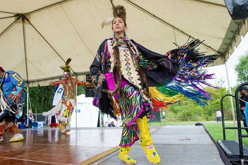 PMG STAFF: JOHN LARIVIERE - Betty Stephens of Painted Sky North Star perform as part of the Celebrate Beaverton Cultural Festival during the Party in The Park at the Howard M. Terpenning Recreation Complex in 2015.