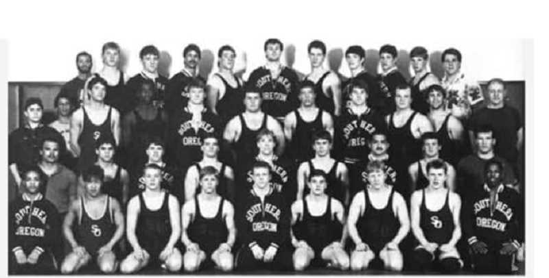 SUBMITTED PHOTO - The 1888 'Riehm's Dream Team' went 15-0 in duals, against teams like Oregon and OSU.