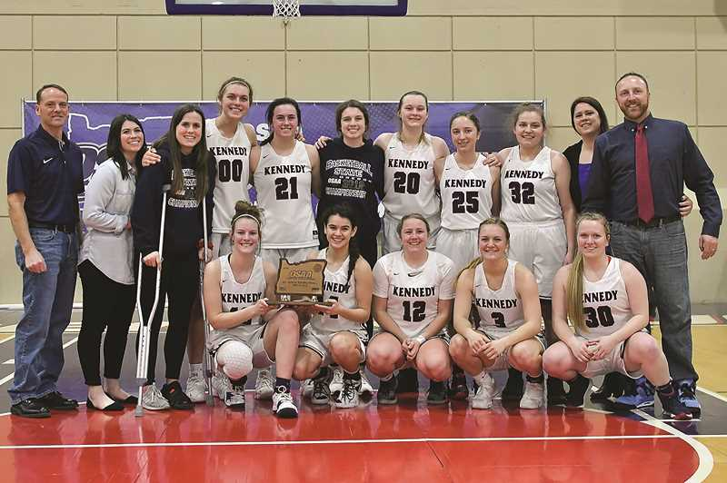 COURTESY: ANDRE PANSE - The Kennedy girls' third-place finish marks the fifth consecutive year the Trojans have placed at the state quarterfinals.