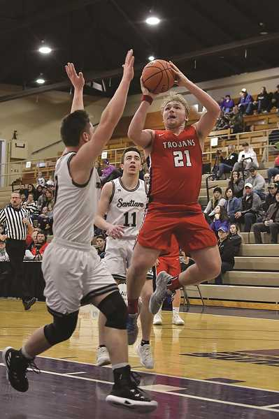 COURTESY: ANDRE PANSE - Kennedy senior Carson Hall led the Trojans in scoring in two of three games at the 2A State Quarterfinal tournament in Pendelton.