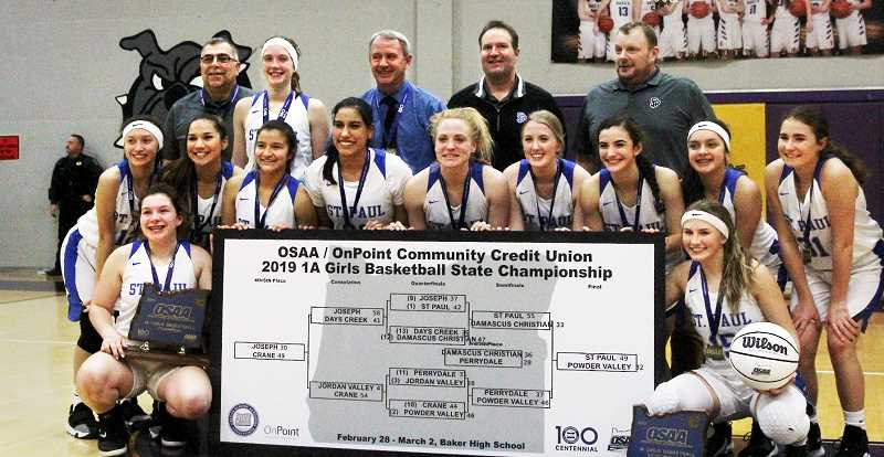 LA GRANDE OBSERVER PHOTO: RONALD BOND  - Coach Dave Matlock called this St. Paul team the best he's ever coached.
