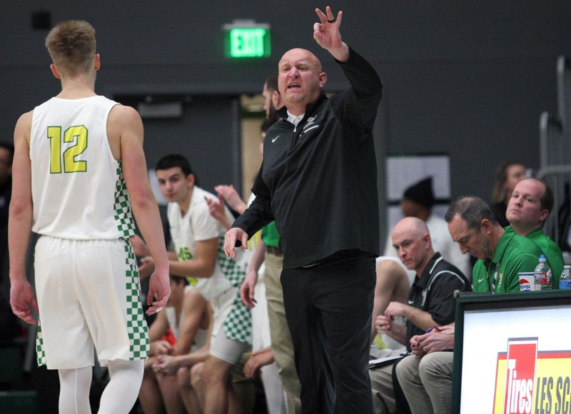 PMG PHOTO: MILES VANCE - West Linn boys basketball coach Tyler Toney announced his resignation on Friday after leading the Lions program for three seasons.