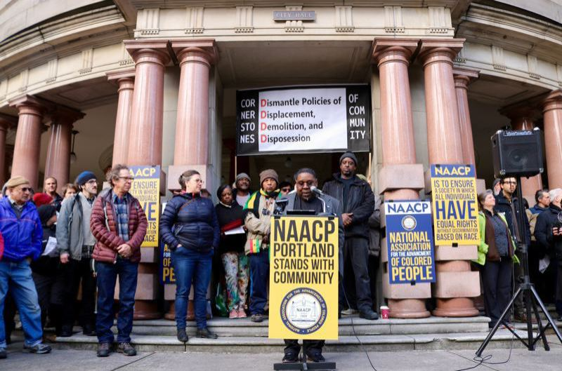 PORTLAND TRIBUNE FILE PHOTO - Commissioner Jo Ann Hardesty believes owners of unreinforced masonty buildings need to upgrade them against earthquakes, but convinced the City Council to delaying controversial warning requirements to come up with funding help.