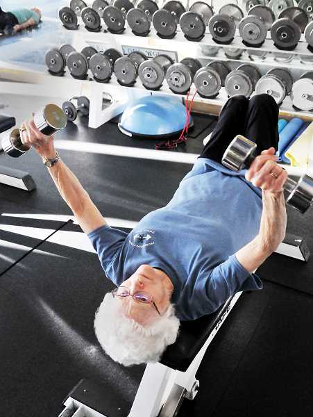GARY ALLEN - 90-year-old Evelyn Piersall has been frequenting Progressive Fitness in Sherwood nearly every weekday for the past 15 years.