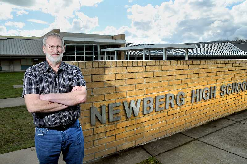 GARY ALLEN - ARE Manufacturing President Alvin Elbert earned the Partner in Education Award for his volunteer work with Tiger Manufacturing at Newberg High School.