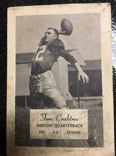 James Crabtree as the Oregon Duck quarterback.