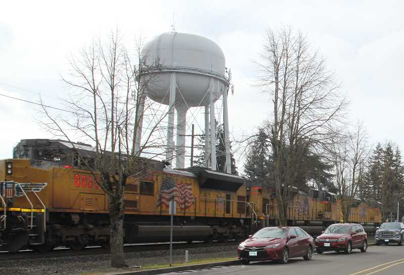 PMG PHOTO: JUSTIN MUCH - Woodburn water tower is scheduled for maintenance in 2020, and a beautification element is part of the plan.