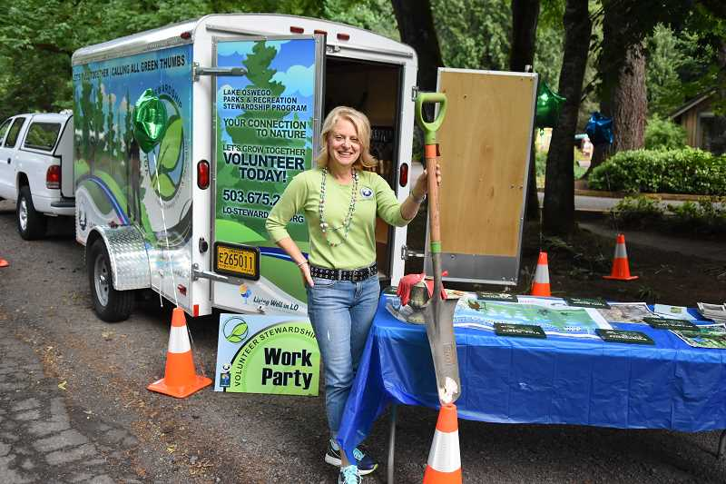 SUBMITTED PHOTO - Babs Hamachek is the stewardship coordinator at City of Lake Oswego. If you want to volunteer, she can find the perfect position for your talents.