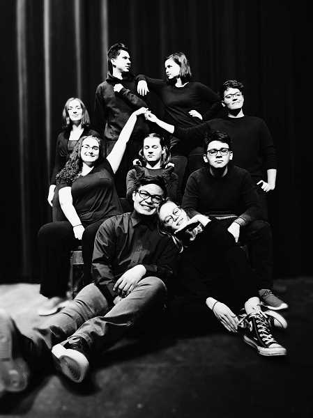 COURTESY PHOTO: JOHN ANDERBERG - 'A Company of Wayward Saints' at Forest Grove High School features  Joshua King, Elanor Wilger, Andres Melgar, Madison Howarth, Daniel Collins, Kevin Calderon, Katy Schlesser, Aubrey Crouch and Carly Watters.