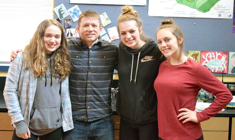 HERALD PHOTO: TANNER RUSS - From left to right: Maren Gingerich, Jeremy Ensrud, Lily Lockwood, Merissa Berge.
