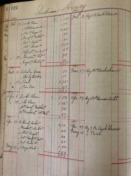 COURTESY PHOTO: MAHS - A page from the Robbins store ledger.