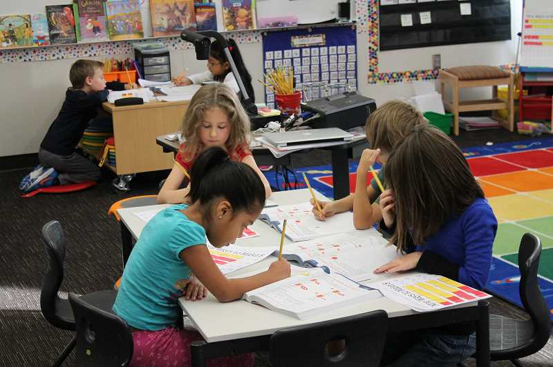 PMG FILE PHOTO - Students in the dual-language program receive half of their instruction each day in Spanish and the other half in English.