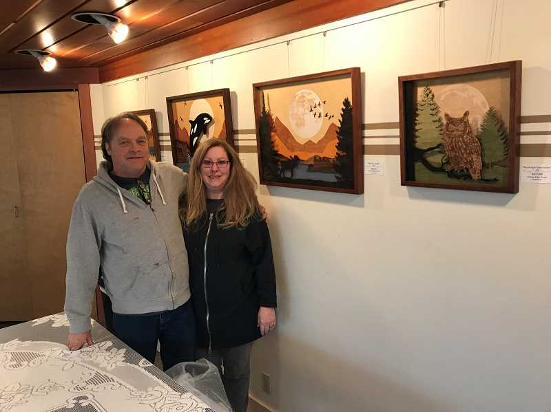 A husband and wife team of artists, John Koster and Tina Hospers , will be showing their wood cut images at St. Franis of Assisi in March.