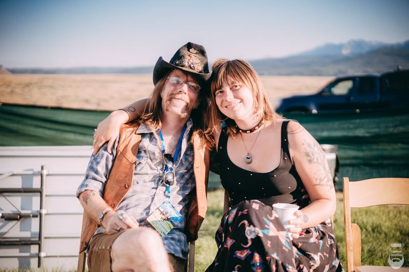 COURTESY PHOTO - Lewi Longmire and Annachristie Sapphire will join voices and guitars in song from 7-9 p.m. Sunday, March 10 at the McMenamins Edgefield Winery Tasting Room.