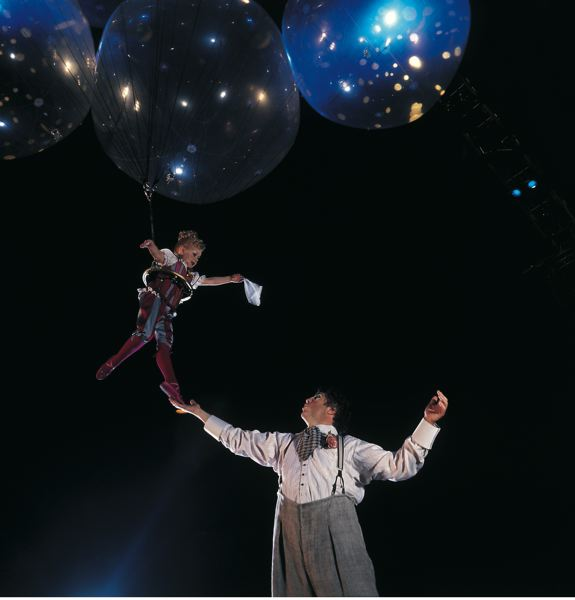 COURTESY: DOMINIQUE LEMIEUX - 'Corteo' is another Cirque du Soleil spectacle to be held in Portland, March 14-17, featuring 'helium dance' and more; it's a festive parade of a show as a clown reflects on life.