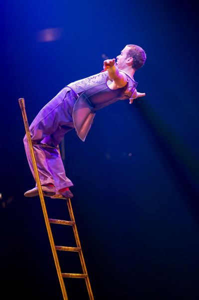 COURTESY: DOMINIQUE LEMIEUX - Acrobatic ladder is a part of 'Corteo.'