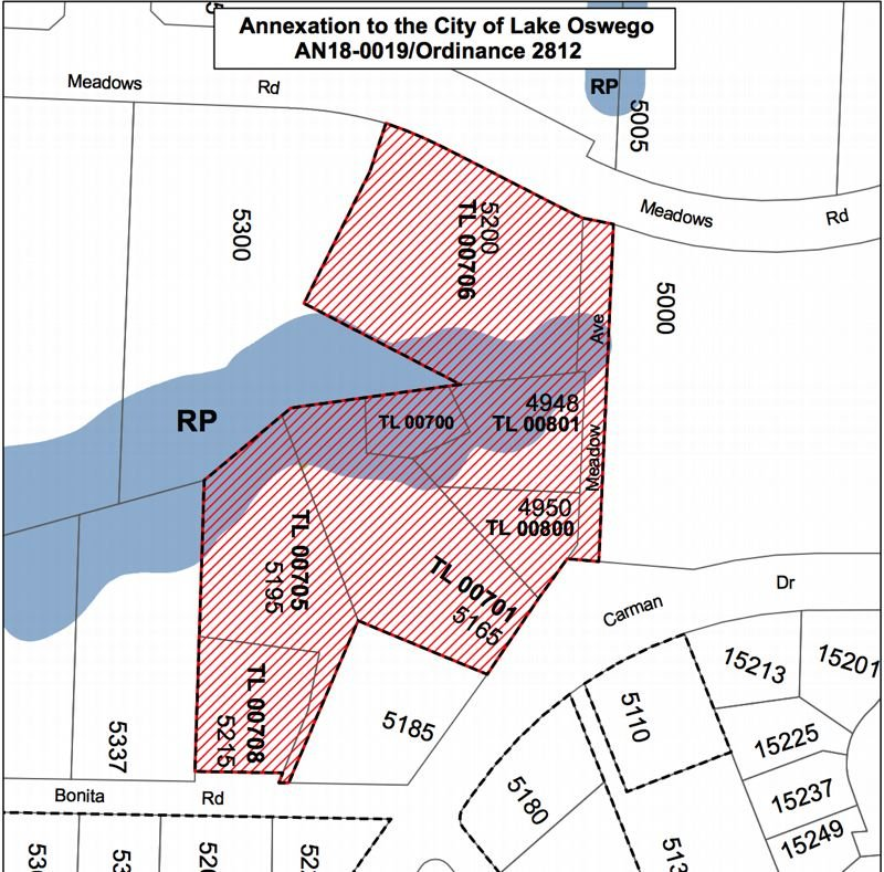 COURTESY PHOTO: CITY OF LAKE OSWEGO - The proposed area for annexation includes a handful of commercial and residential properties near the edge of the Lake Forest neighborhood.