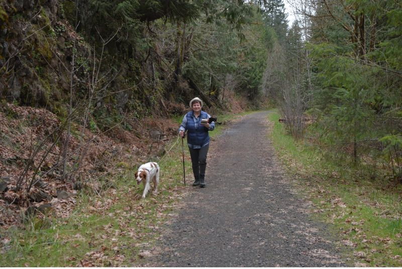 PMG FILE PHOTO - JJ Duehren walks her dog along the CZ Trail in 2018.