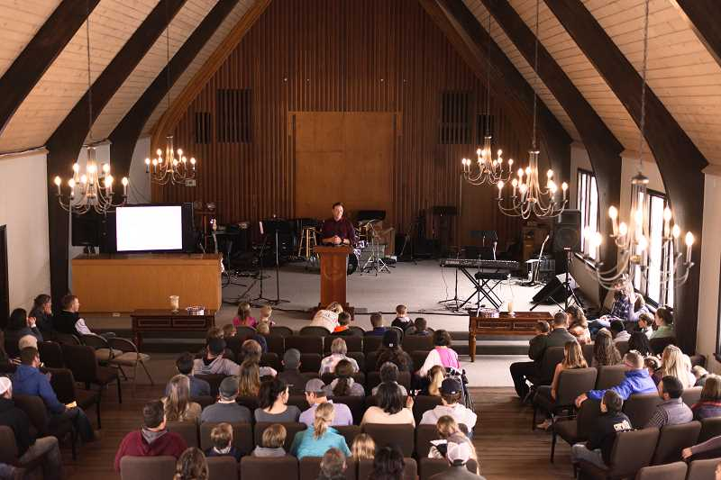 PHOTO COURTESY OF RORY RODGERS  - Calvary Chapel of Crook County held its first service in its new building last Sunday.