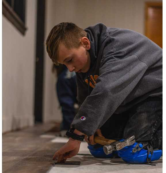 PHOTO COURTESY OF RORY RODGERS  - Church members worked hard to get the building ready for use.