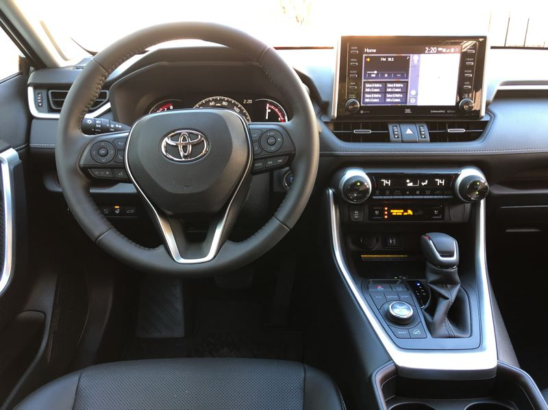 PORTLAND TRIBUNE: JEFF ZURSCHMEIDE - Inside, the RAV4 offers a standard 7-inch touchscreen infotainment system that supports Scout GPS and Apple CarPlay smartphone integration, and upgrades to an 8-inch touchscreen with support for onboard GPS navigation in higher trims.