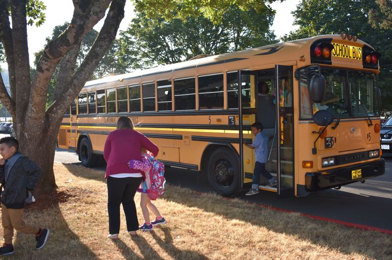 PMG PHOTO: TERESA CARSON - The big yellow school bus will drop Centennial students at school a half-hour later starting in the fall of 2019.