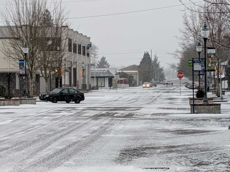 JOHN BAKER - Snow fell in Canby several times in February.