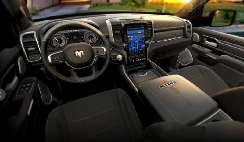 FCA NORTH AMERICA - The interior of the 2019 Ram 1500 is spacious and can be outfitted with practically every automotive technology.