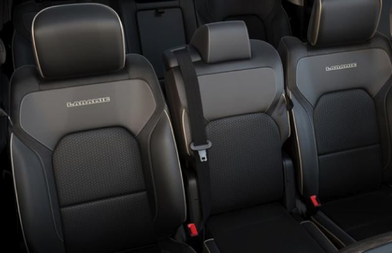 FCA NORTH AMERICA - There is plenty of room for five adults in rhe rears seats of the 2019 Ram 1500.