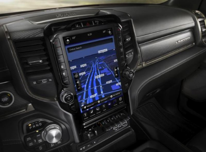 FCA NORTH AMERICA - The infotainment system in the 2019 Ram 1500 is impressive and easy to use.