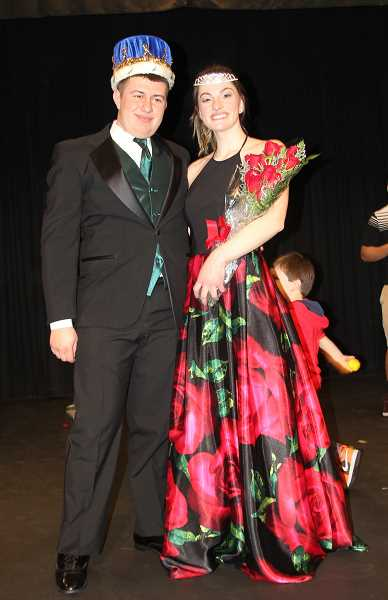 PMG PHOTO: JUSTIN MUCH - Mr. and Miss Gervais Alejandro Contreras and Abigail Saalfeld. The 2019 Mr. and Miss Gervais Pageant, Saturday, March 9.