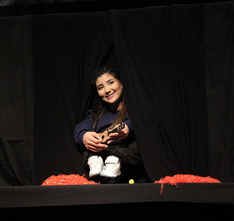 PMG PHOTO: JUSTIN MUCH - Regena Vargas playing 'Our Little Dancer' during the 2019 Mr. and Miss Gervais Pageant, Saturday, March 9.