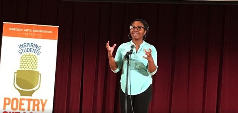 VIA KOIN 6 NEWS - Belise Nishimwe, a sophomore at St. Mary's Academy, is Oregon's 2019 Poetry Out Loud champion.