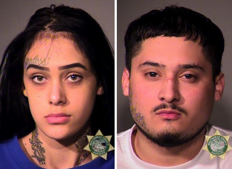 MCSO PHOTOS - FROM LEFT: Cheyenne Trujillo and Raul Marquez