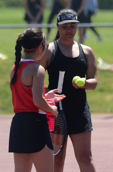 PMG PHOTO: DAVID BALL - Reynolds junior Sabrina Dyton was the only Raider to finish with a winning record last season, going 6-4 in No. 2 singles matches during the regular season.