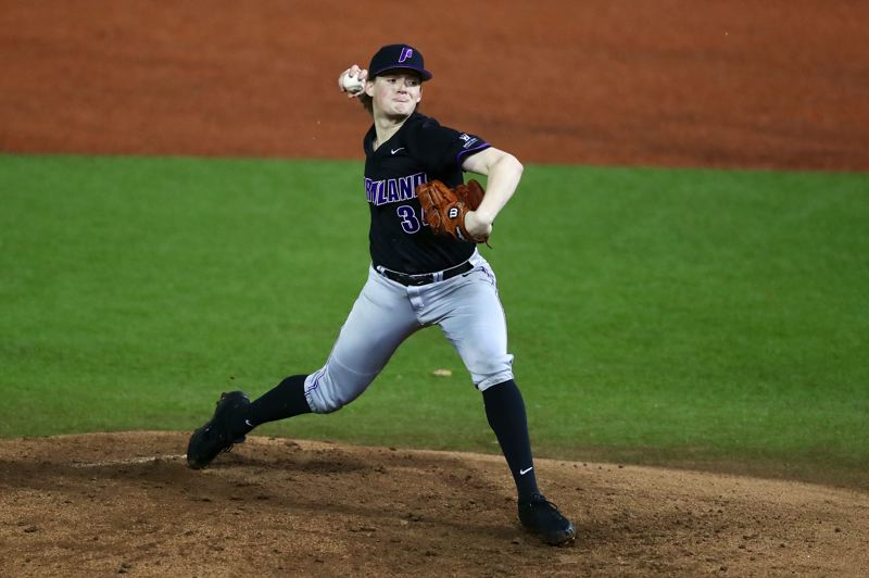 COURTESY: UNIVERSITY OF PORTLAND - Sophomore Eli Morse, from Cleveland High, is a regular starter on a University of Portland pitching staff with a 3.06 team ERA in its 13-4 nonleague start.