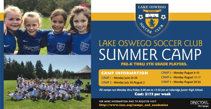 (Image is Clickable Link) Lake Oswego Soccer Club Summer Camp