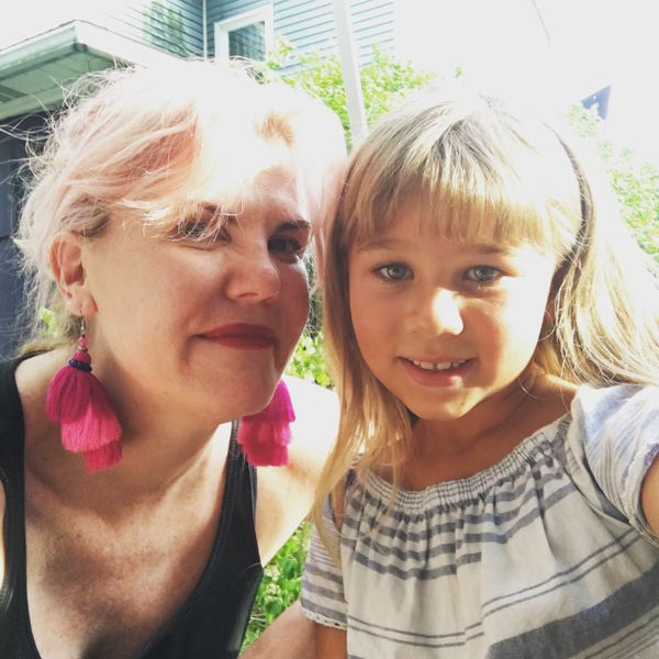 COURTESY: CHELSEA CAIN - Portland author Chelsea Cain visited the Pittsburgh set of the TV series 'Gone' and met the cast, including young actor Gianna Desch, who plays the 6-year-old version of main character Kick.