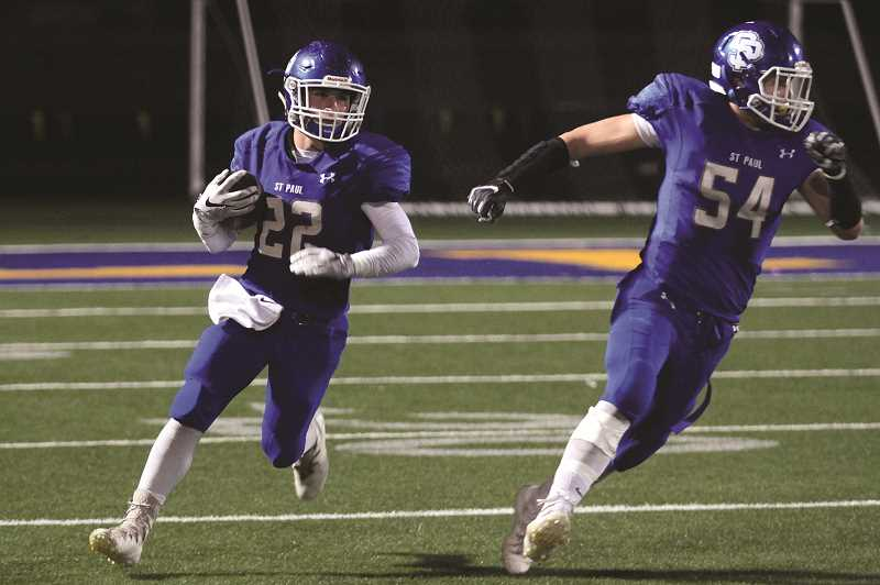 PMG PHOTO: PHIL HAWKINS - Herberger was named both First Team All-League and First Team All-State on offense and defense in each of the past two seasons, earning 2A Defensive Player of the Year honors in 2017.
